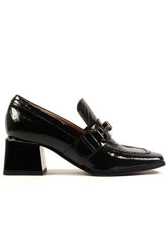 Moccasin Black Gelè Mousse Patent Leather, FABI