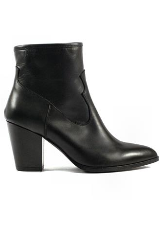 Zip Boot Black Leather, GIOIA A.