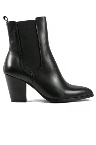 Double Band Boot Black Leather, GIOIA A.