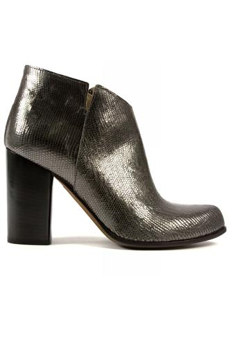 High Heel Ankle Boot Anthracite Laminate, DUCCIO DEL DUCA