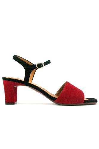 CHIE MIHARALora Black Suede Red