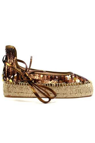 Espadrillas Pail-B Brown Copper Paillettes, PREMIATA