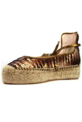 Espadrillas Pail-B Brown Copper Paillettes