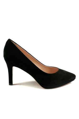 Decollete with Plateau Black Suede, ELLEMME