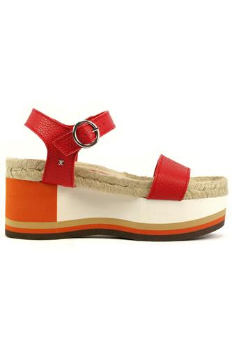 FABINila Red Leather Rope Orange White Micro