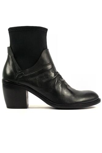 Boot Black Leather Neoprene, OASI