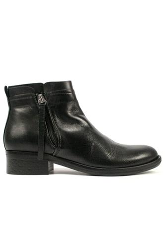 Double Zip Boot Black Leather, OASI