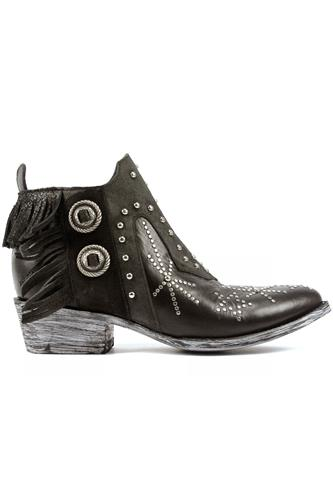 Corus Black Leather Dark Grey Suede, MEXICANA
