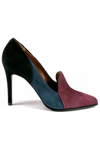 Sia Patchwork Suede Wine Blue Black, GIBELLIERI