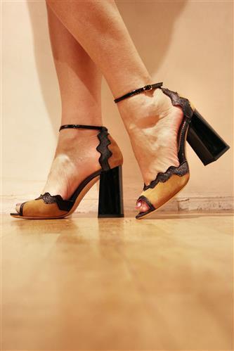 Sally Black Rafia Patent Almond Suede