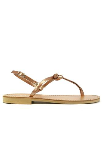 Sandal Powder Laminated Leather Bow, LATIKA