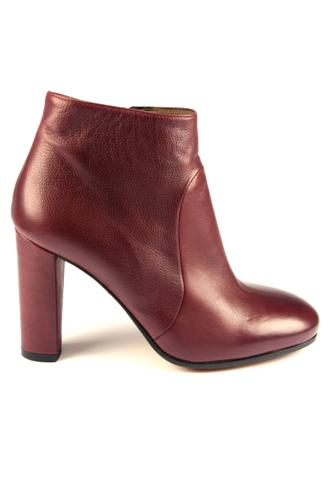 Zip Ankle Boots Red Barolo, LENA MILOS