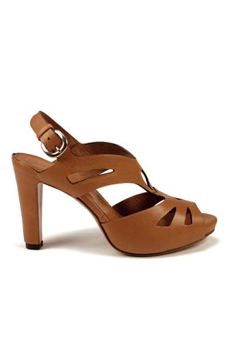 Plateau Sandals Carved Leather, LENA MILOS