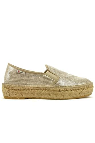 ESPADRILLESTonia Plata Silver Laminated Canvas
