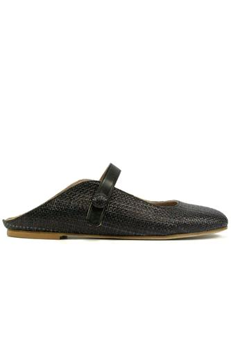 Terry Raffia Black Leather, CHEVILLE
