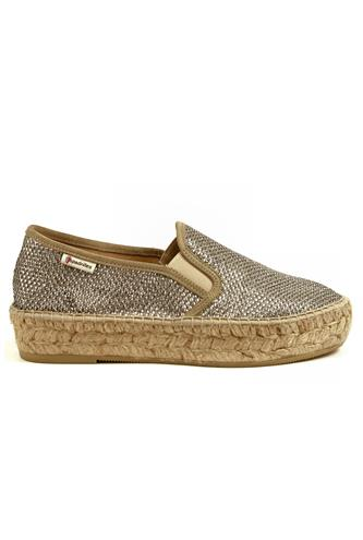 Tonia Silver Lurex Cloth, ESPADRILLES