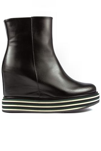 Virginia Multi Green Flat Black Leather, PALOMA BARCELO'