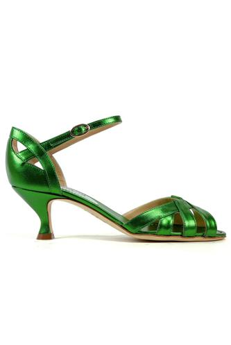 Victoria Green Laminated Leather, MINA BUENOS AIRES