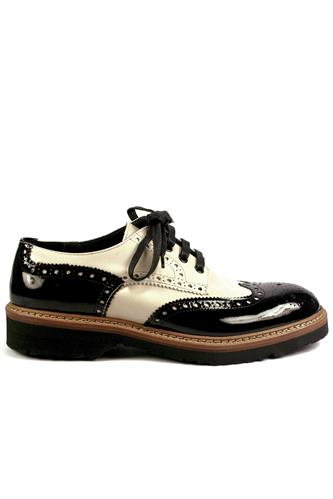 Shoes Patent Leather Black Cream, WEXFORD